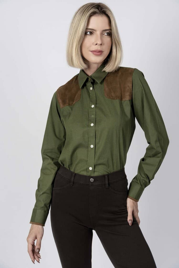 ADRIAN Green Shooting luxury cotton shirt