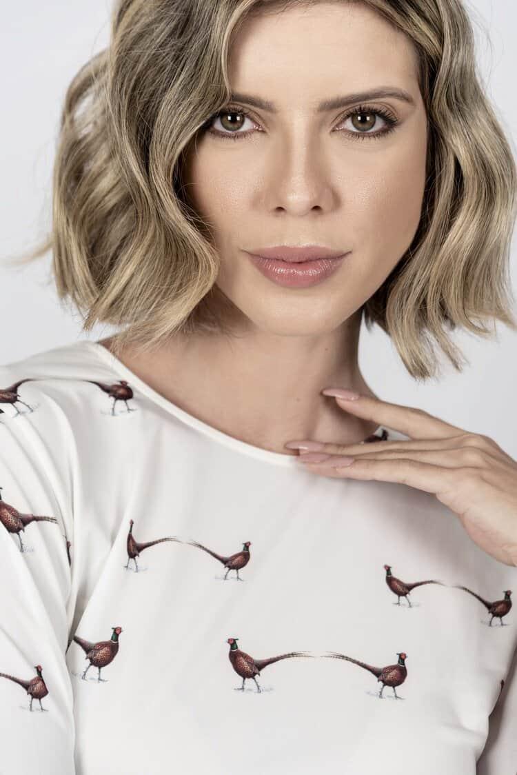 ALICE Pheasants luxury T-shirt