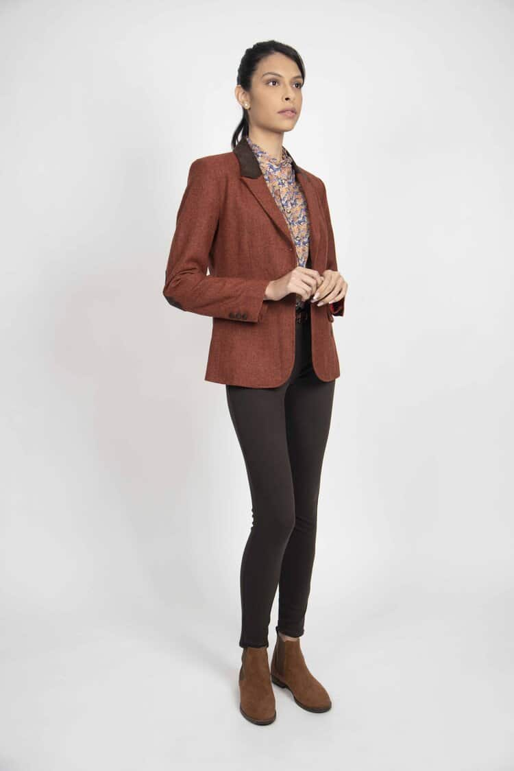 LILIAN Pure wool rust jacket