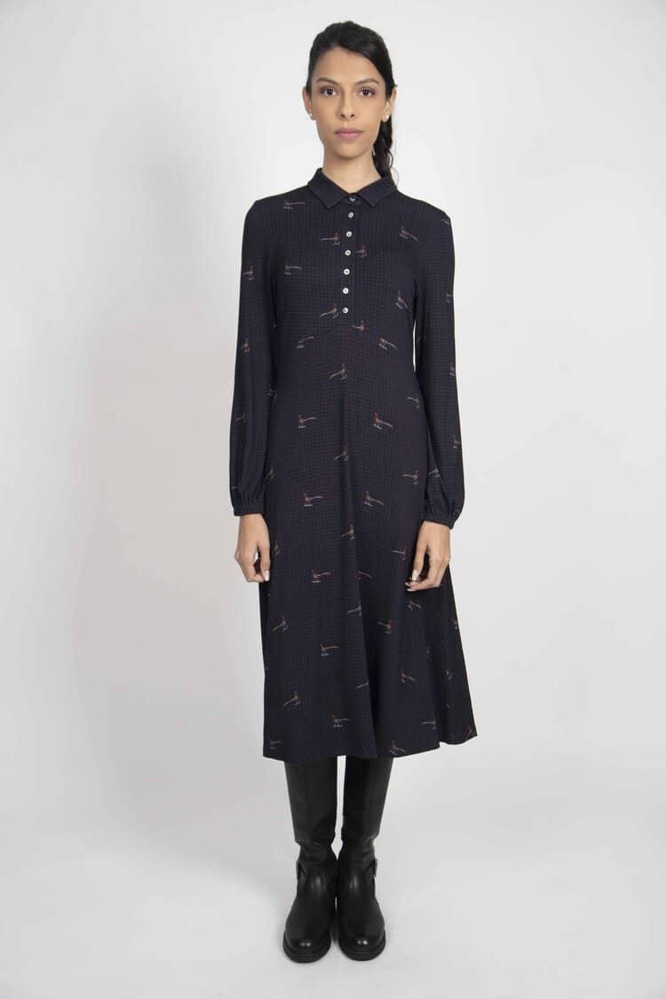 SOPHIE Navy Houndstooth dress