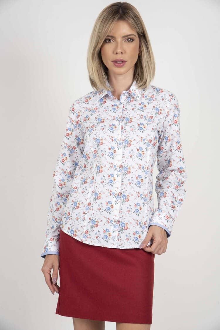 ZOE Garden Flowers luxury Oxford Cotton shirt